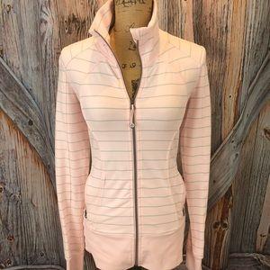 Lululemon pink and gray zip up jacket